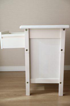 ベルメゾン「ベッドサイドナイトテーブル」(ホワイト)の側面画像