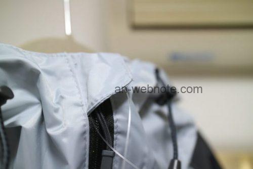 ワークマン(WORKMAN)ワークマ18WORKMAN)レインジャケット STRONG(ライトグレー)のアップ画像