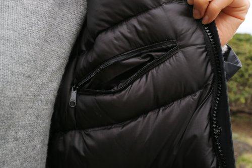 ノースフェイス マカルダウンコート(THE NORTH FACE)レディースMの裏面内側胸ポケット画像