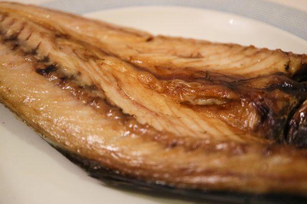 楽天ふるさと納税2018 みのだ食品の魚(干物)をグリルで焼いた後の画像02