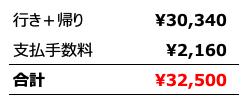 peach航空券購入内訳明細