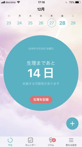 Flo 生理日記 排卵日 カレンダー 管理アプリの機能紹介(通知)