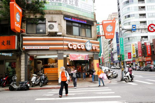 coco都可の店舗外観(台北)