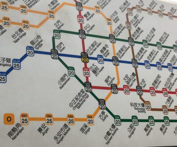 台北 電車の路線図