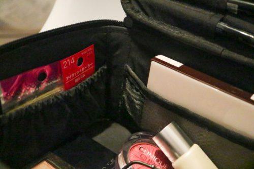 無印ナイロンメイクボックスとポリプロピレンケースの組み合わせ収納