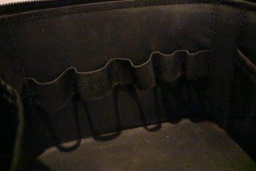 無印ナイロンメイクボックス(黒・ブラック)内側収納