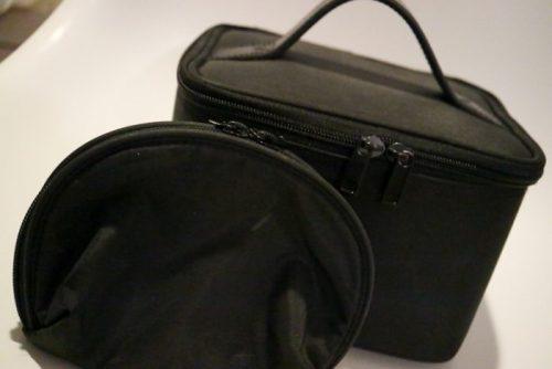 無印ナイロンメイクボックス &コスメポーチ(黒・ブラック)