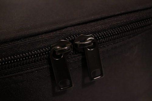 無印ナイロンメイクボックス(黒・ブラック)外側チャック