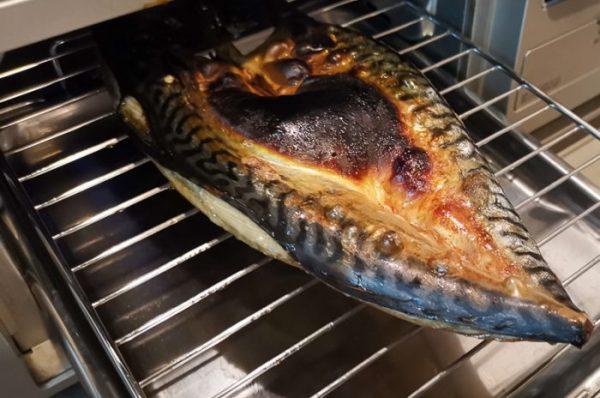 みのだ食品 とろさば開き 魚焼きグリルで焼いた直後
