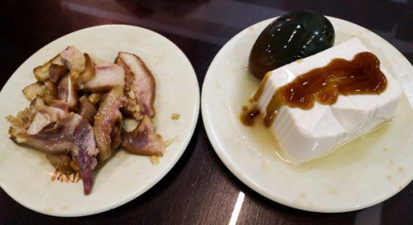 豪季水餃専売店(台北車站店)小皿2種