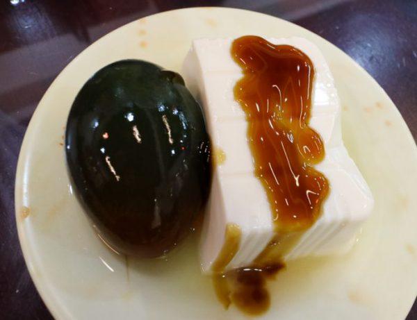 豪季水餃専売店(台北車站店)ピータン豆腐