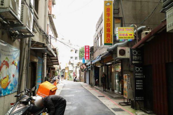 豪季水餃専売店(台北車站店)前の通り