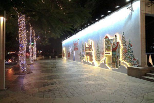台北の街並み(12月クリスマスイルミネーション)