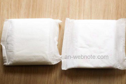 生理用ナプキン「ナチュラムーン」と「はだおもい」比較