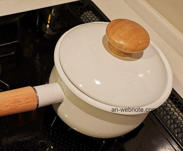 富士ホーロー フタ付きミルクパン15cm