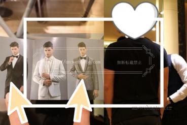 台湾 ウエディングフォト 結婚写真 衣装選び(タキシード)