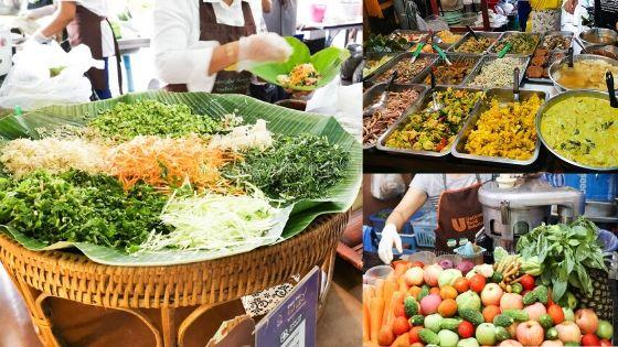 バンコクの朝市、サマゴーン市場 人気 朝市