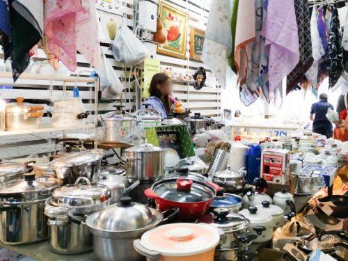 タイ バンコク旅行 サマゴーン市場 キッチン雑貨