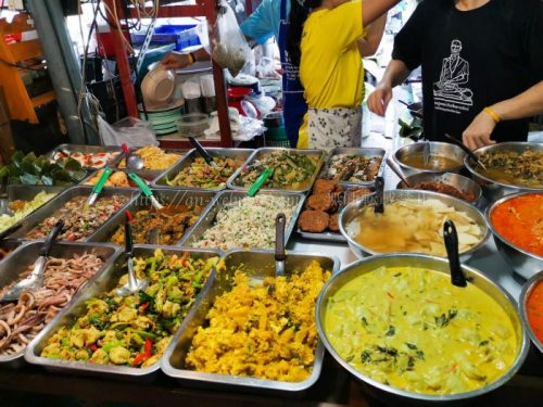 タイ バンコク旅行 サマゴーン市場 食べ物