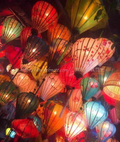 ベトナム夫婦旅行 ダナン  ホイアン 夜景 ランタン