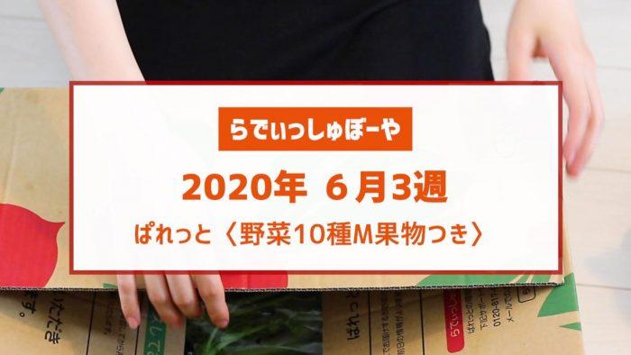 らでぃっしゅぼーや 口コミ 食材宅配中身 お届け内容(野菜10種M果物つき)