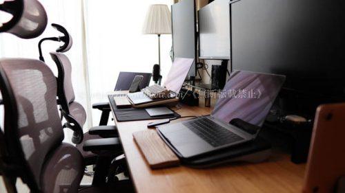 デスク周り デスク環境 リモートワーク 在宅ワーク 配線整理 オフィチェア ワークデスク